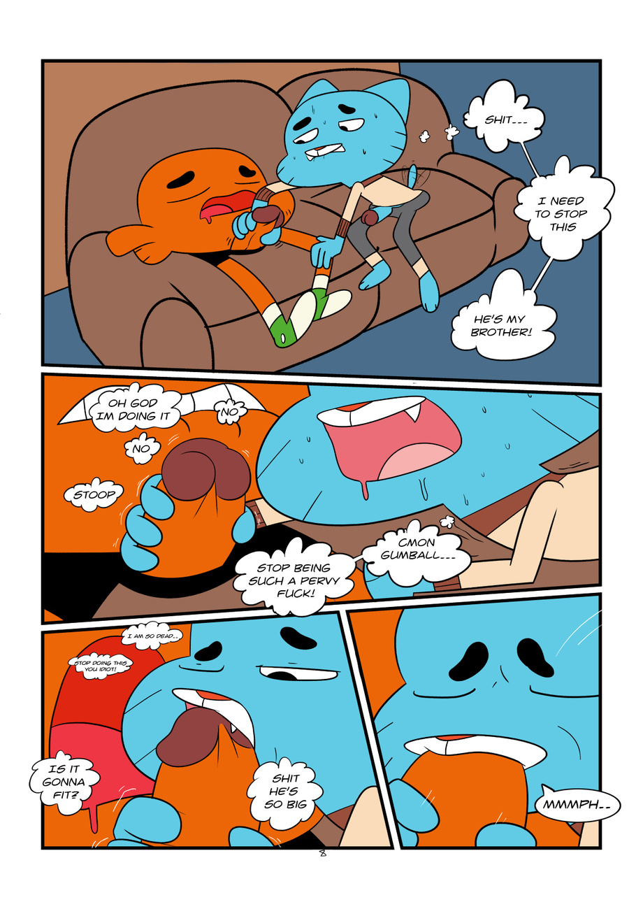 gumball porn gay amazing of world the Sneefee black and blue comic