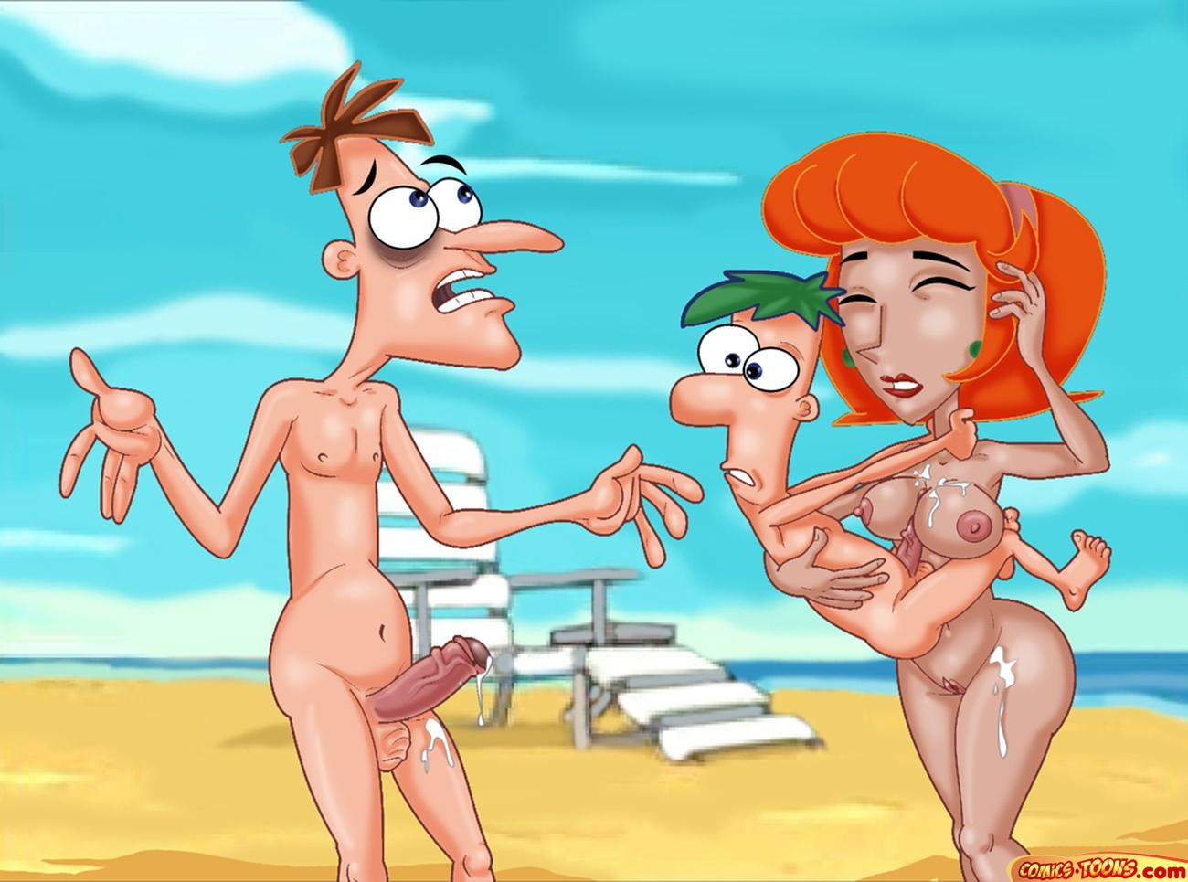 y porno comic ferb phineas A new discovery for ariel